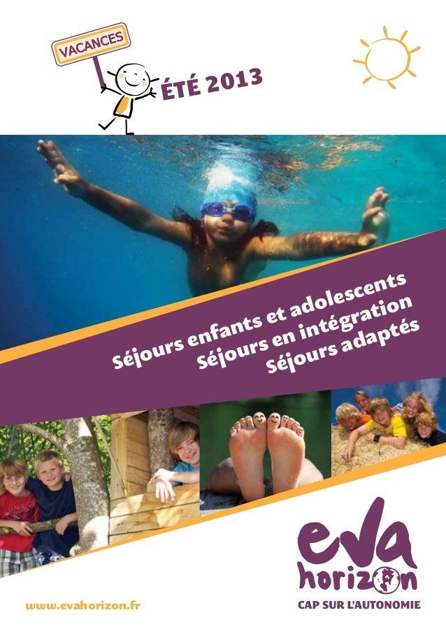 Catalogue vacances adaptées  2013