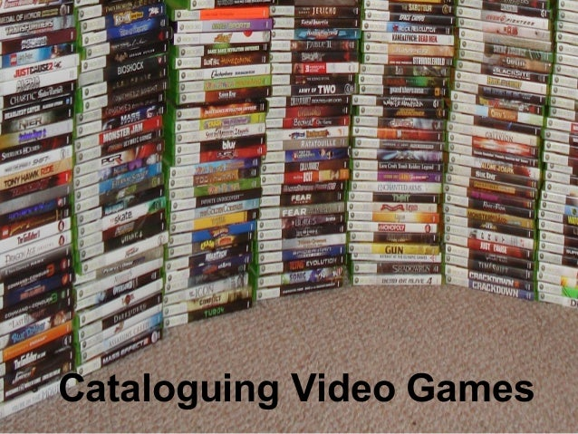 Cataloguing video games