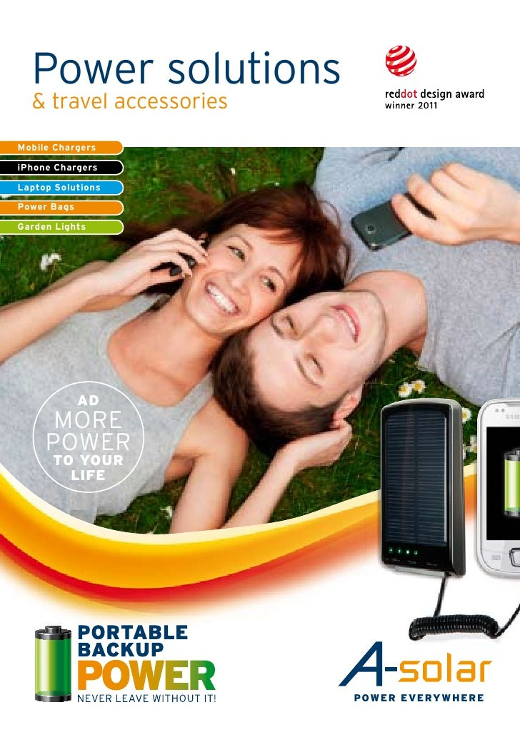Power solutions  & travel accessoriesMobile ChargersiPhone ChargersLaptop SolutionsPower BagsGarden Lights             ad ...