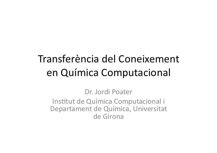 Curs Introducció Química Computacional CatalunyaCaixa