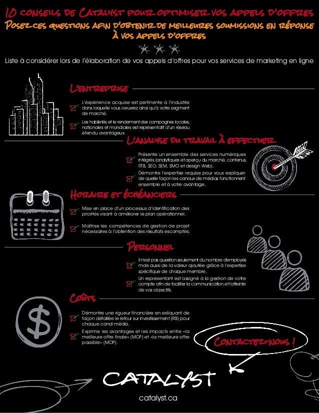 10 conseils de Catalyst pour optimiser vos appels d'offres Posez ces questions afin d'obtenir de meilleures soumissions en...