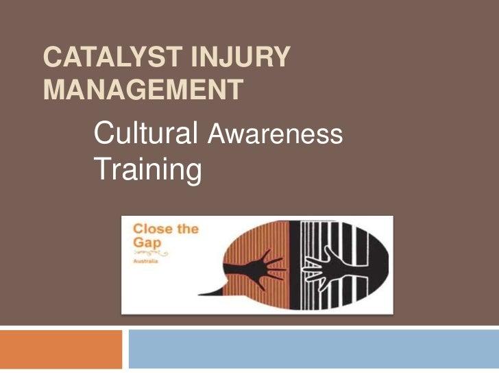 CATALYST INJURYMANAGEMENT   Cultural Awareness   Training