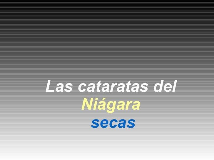 Las cataratas del    Niágara     secas