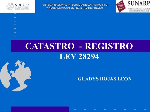 Catastro registro