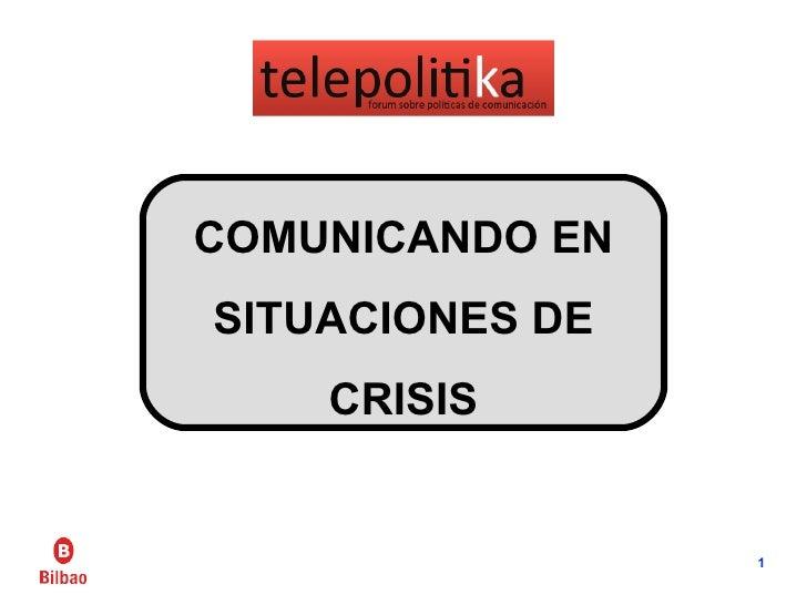 La gestión y comunicación en catástrofes - Telepolitika - Andoni Oleagordia