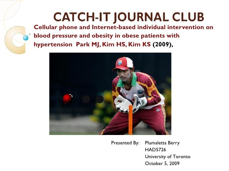 Catch It Presentation   Ict Intervention For Obese Patients With Hypertension