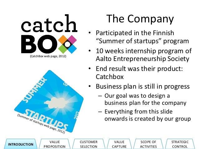 Biz Model for Catchbox