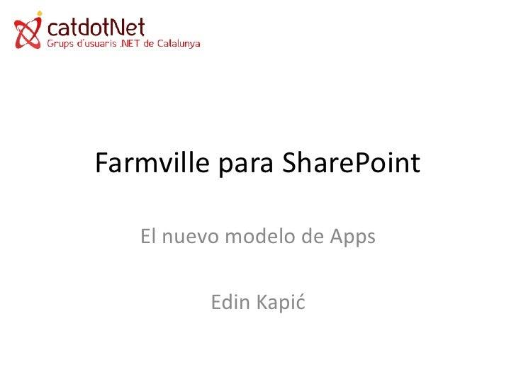 CatDotNet - Farmville para SharePoint