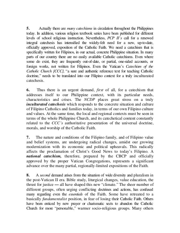 catechism for filipino catholic book The catechism for filipino catholics , or cfc , is a contextualized and inculturated roman catholic catechism for filipinos prepared by the catholic bishops' conference of the philippines (cbcp) and approved by the holy see  the draft was produced by the cbcp's episcopal commission on catechesis .
