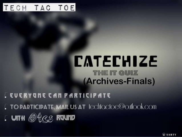 Catechize finals(archive)