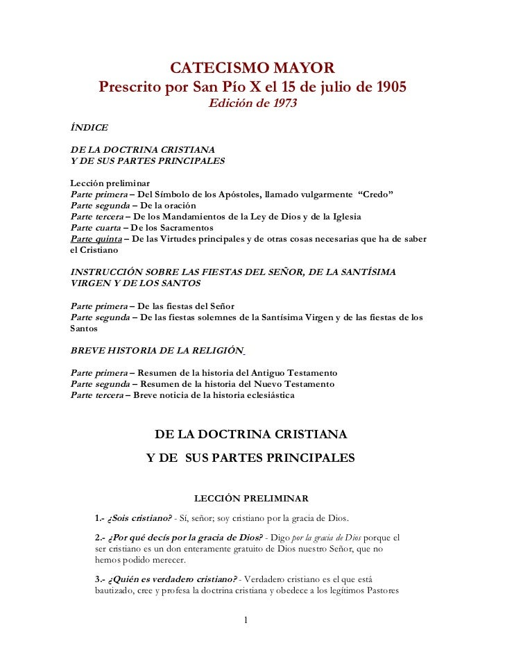 CATECISMO DE SAN PÍO X