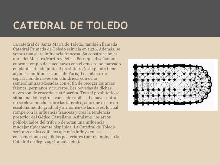 CATEDRAL DE TOLEDOLa catedral de Santa María de Toledo, también llamadaCatedral Primada de Toledo seinicia en 1226. Además...