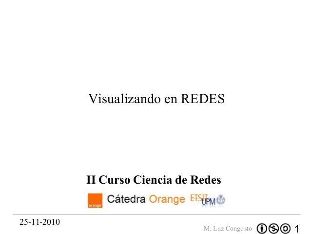 1M. Luz Congosto II Curso Ciencia de Redes 25-11-2010 Visualizando en REDES
