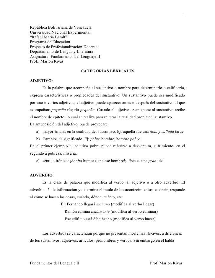 """1  República Bolivariana de Venezuela Universidad Nacional Experimental """"Rafael María Baralt"""" Programa de Educación Proyec..."""