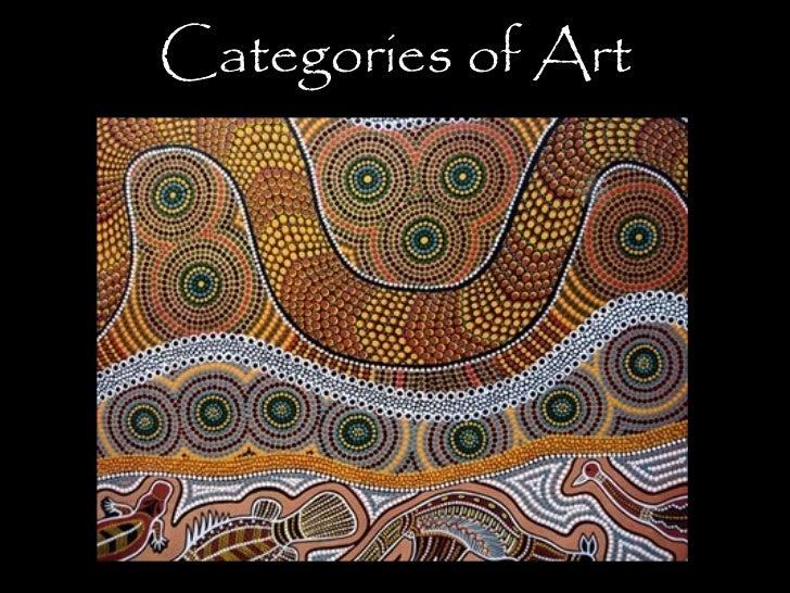 Categories of art