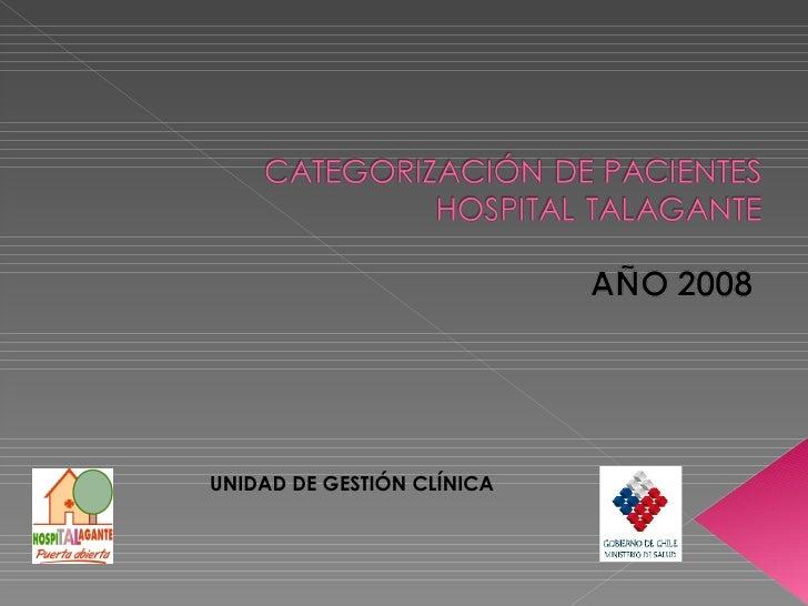 CategorizacióN De Pacientes  Hospital Talagante