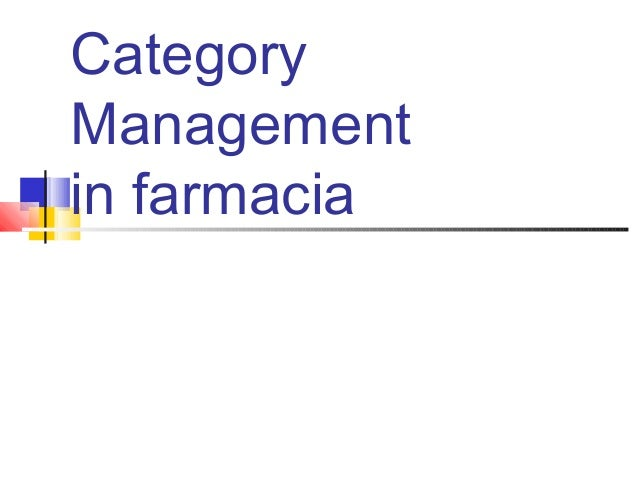 Category Management in farmacia