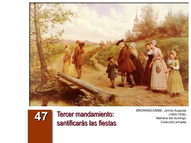 Tercer mandamiento:  santificarás las fiestas 47 BROWNSCOMBE, Jennie Augusta (1850-1936) Mañana del domingo Colección priv...