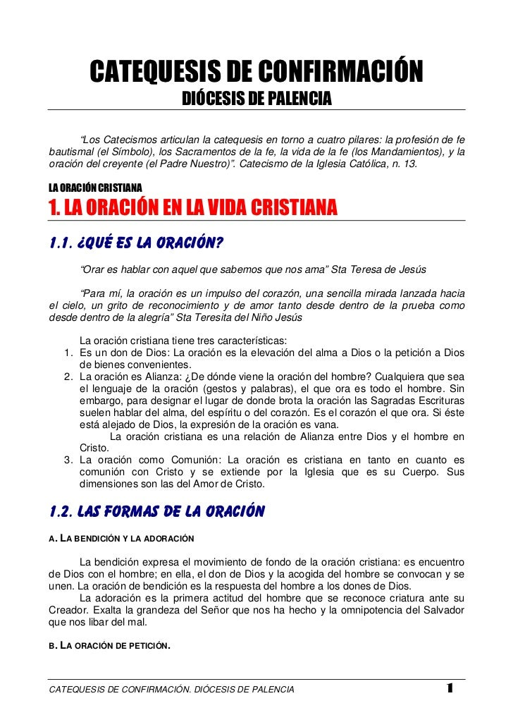 "CATEQUESIS DE CONFIRMACIÓN                              DIÓCESIS DE PALENCIA        ""Los Catecismos articulan la catequesi..."
