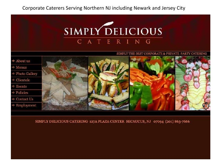 Corporate Caterers Serving Northern NJ including Newark and Jersey City<br />