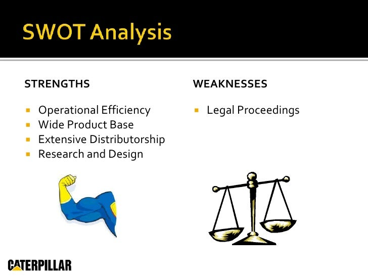 an analysis of caterpillar inc Caterpillar inc vision statement, mission statement, porter's five forces  competitive analysis external assessment, intensive strategy, swot.