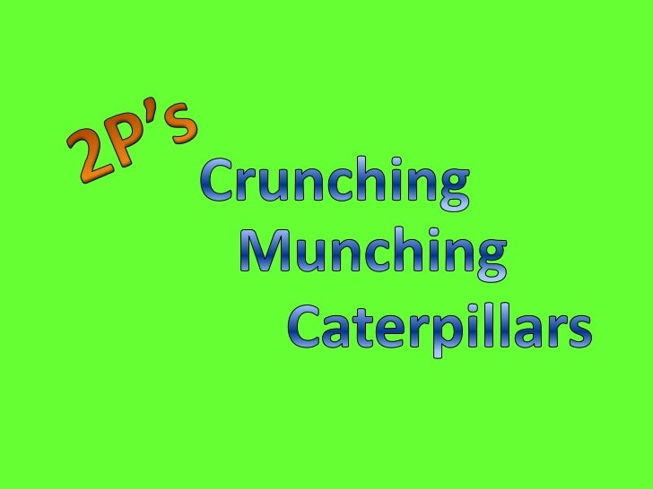 2P's<br />Crunching<br />Munching<br />Caterpillars<br />