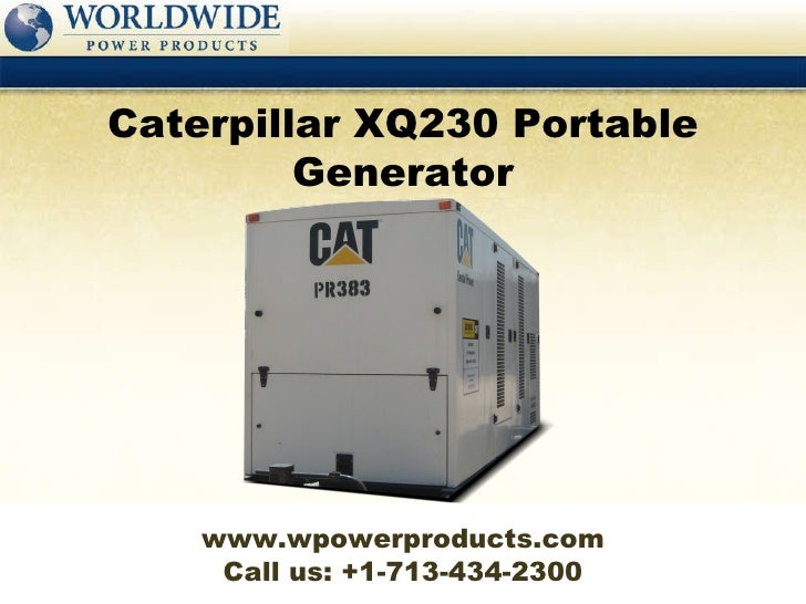 Caterpillar XQ230 Portable Generator