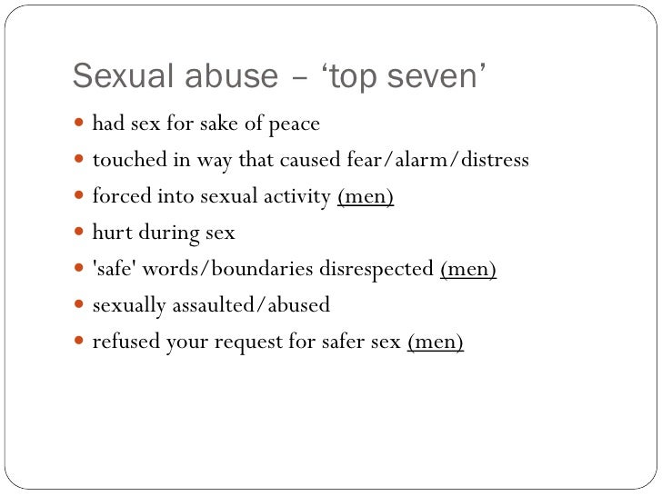 sexually abused men and relationship problems
