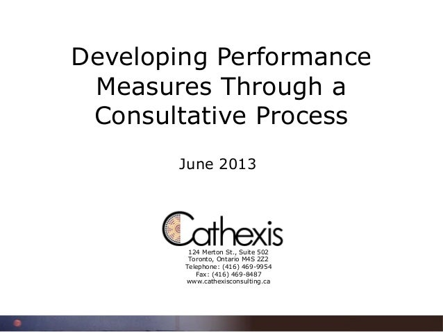 Developing Performance Measures through a Consultative Process