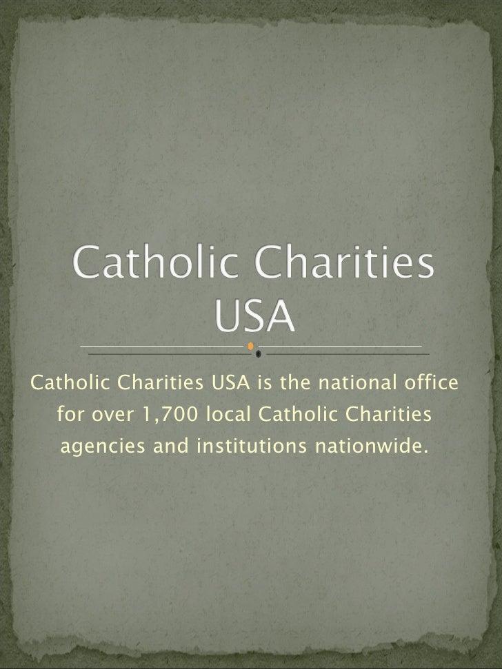 Catholic Charities USA and Poverty