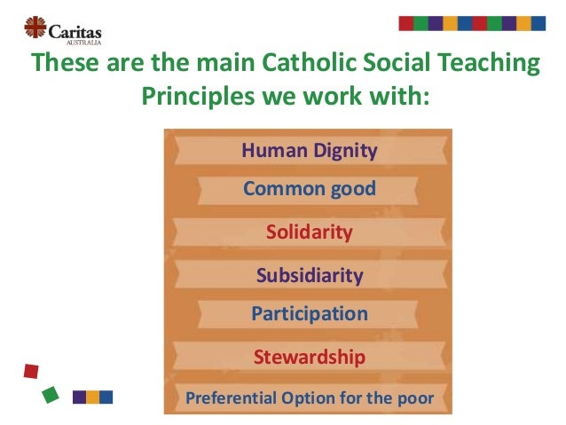 the catholic social teaching This video is a part of the religion teacher's catholic social teaching activity packto get the graphic organizer to accompany this video as well as more than a dozen other worksheets, login to the religion teacher, buy the activity pack, or become a premium member.