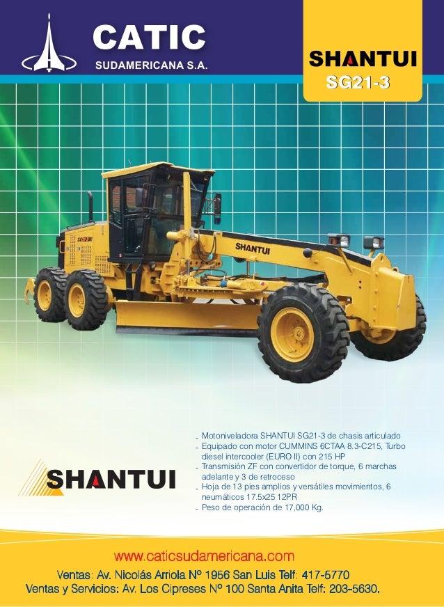 SG21-3                                 - Motoniveladora SHANTUI SG21-3 de chasis articulado                               ...