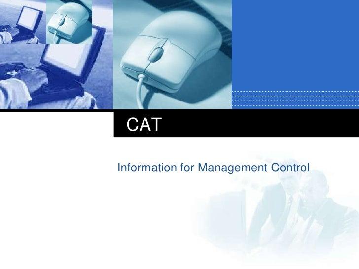 Cat info mgt