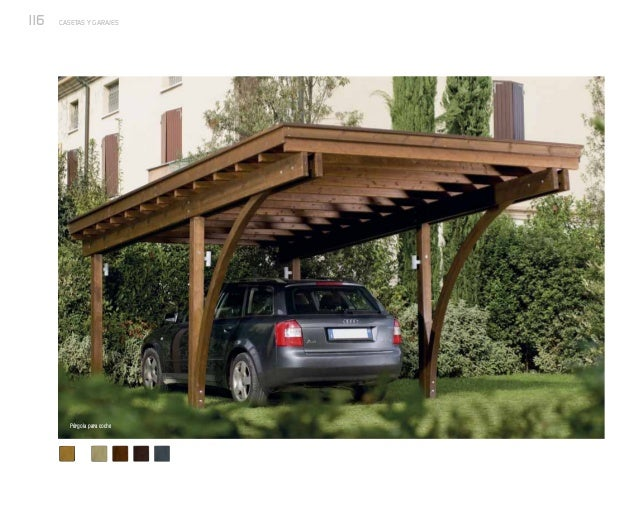 Casetas y garajes de exterior nueva colecci n de p rgolas - Garajes para coches ...