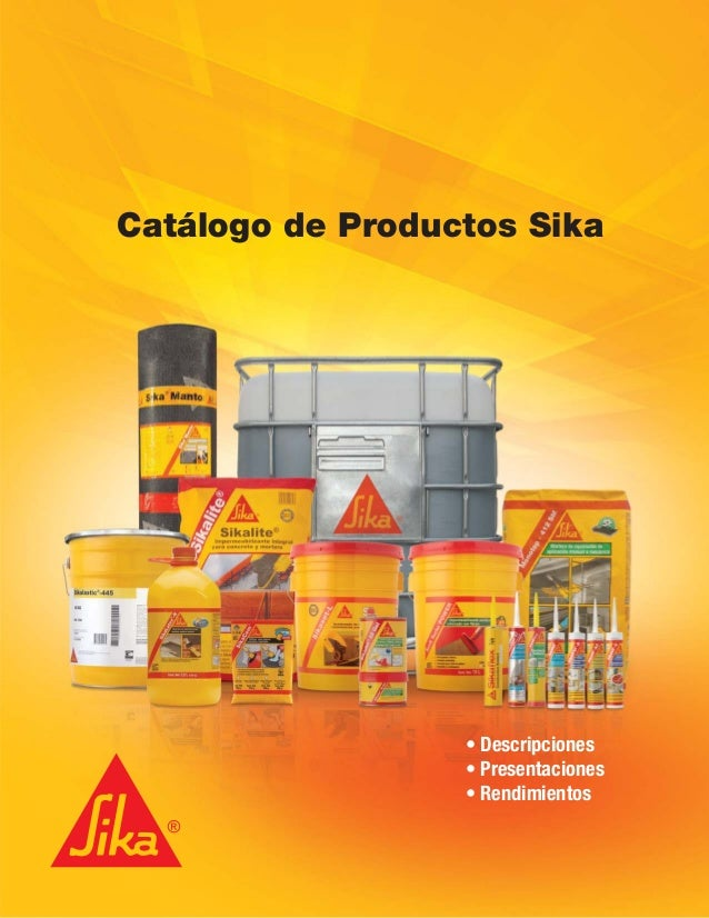 Cat lago de productos sika for Productos sika para piscinas