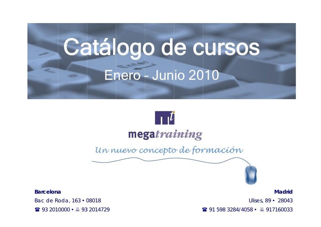 Catálogo 2010 (Primer semestre)