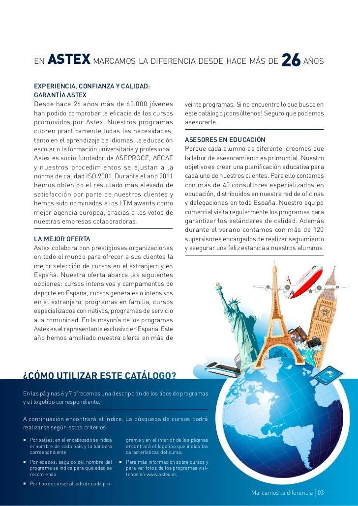 Catálogo Jóvenes 2012. ASTEX