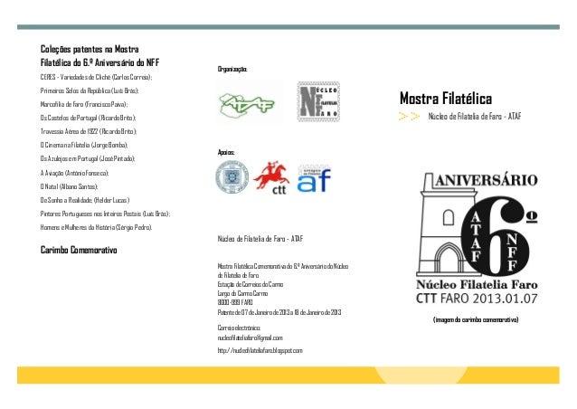 Coleções patentes na MostraFilatélica do 6.º Aniversário do NFF                                                         Or...