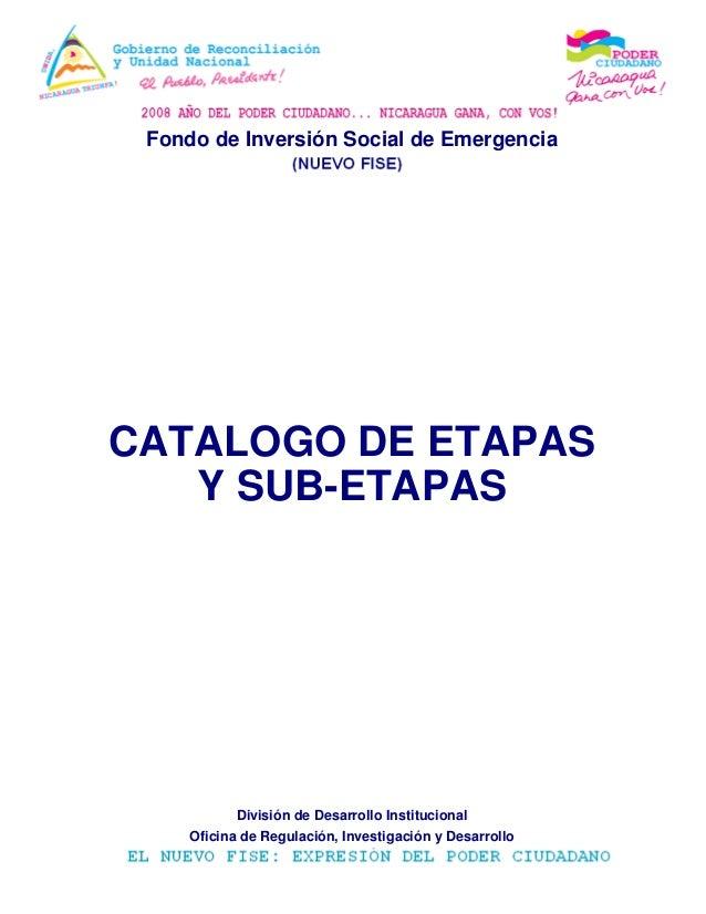 Fondo de inversi 243 n social de emergenciacatalogo de etapasisi 243 n de