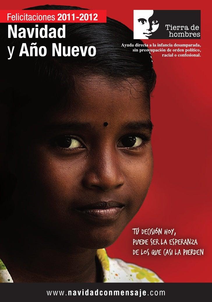 Catálogo de Felicitaciones de Navidad 2011 de Tierra de hombres