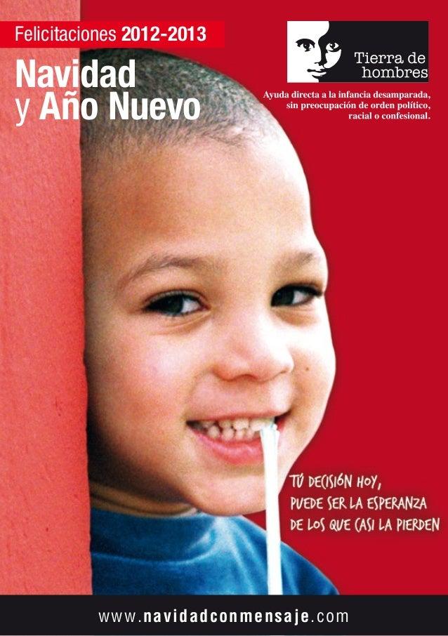 Catálogo de felicitaciones de Navidad 2012 de Tierra de hombres