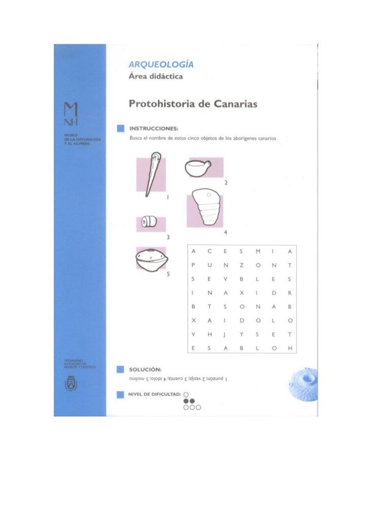 Catálogo de fichas didácticas del MNH del Cabildo de Tenerife
