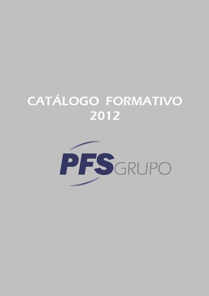 CATÁLOGO FORMATIVO       2012