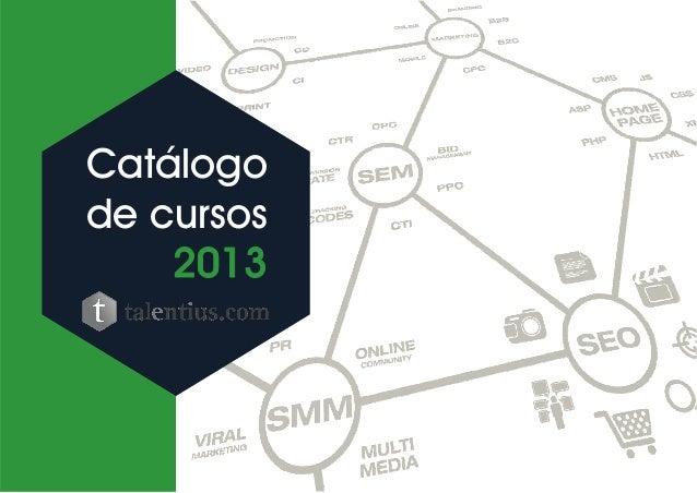 Catálogo de marketing talentius 2013