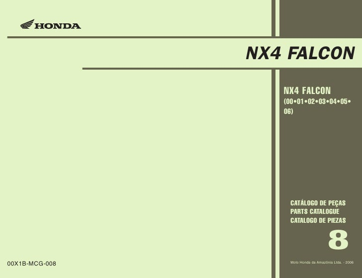 manual de piezas honda nx4 falcon 2000 a 2006