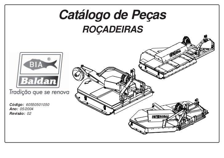 Catálogo de peças roçadeiras Baldan