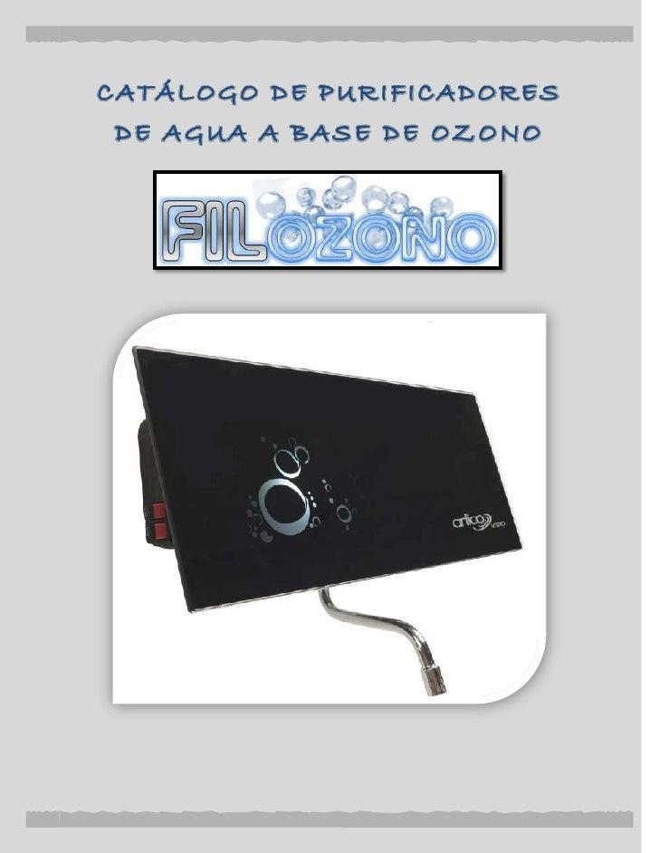 Catálogo de purificadores de agua a base de ozono