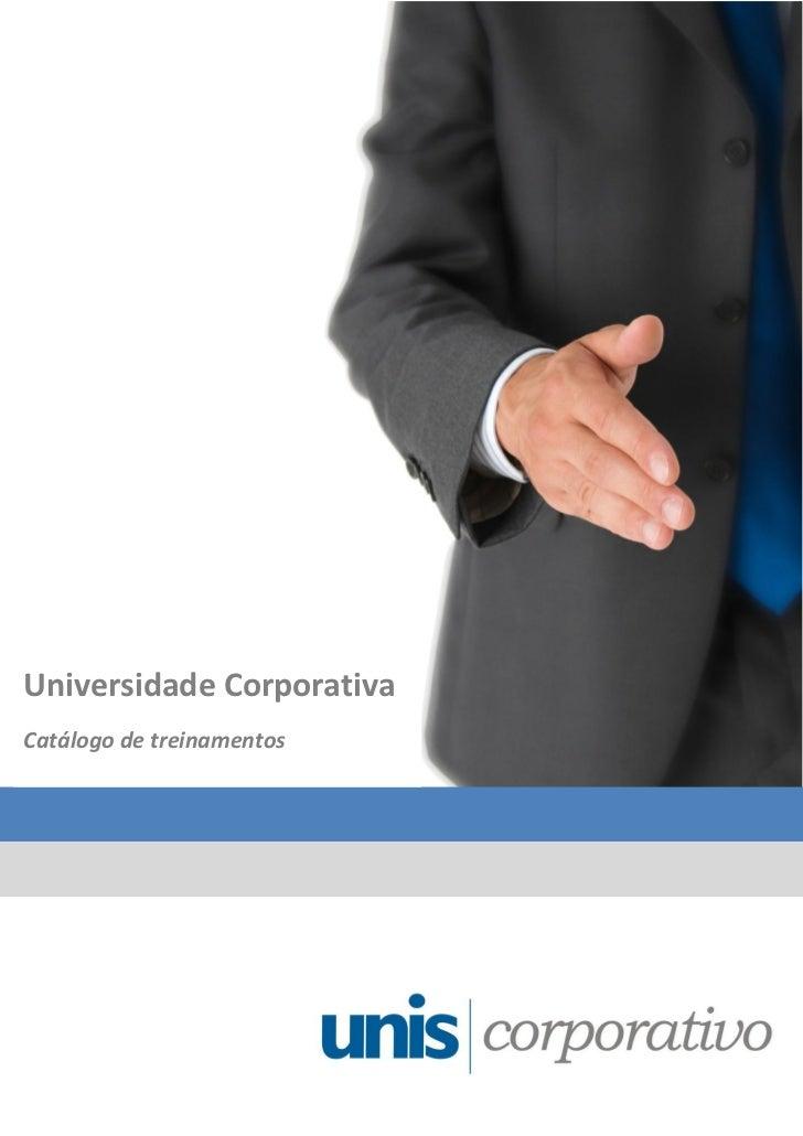 Universidade CorporativaCatálogo de treinamentos