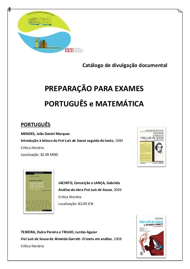 Catálogo preparação para exames Português e Matemática