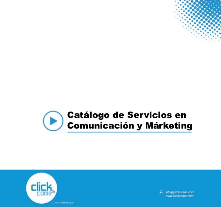 Catálogo de Servicios de Click and Come en Español